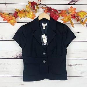 NWT! LOFT Navy Short Sleeve Blazer Jacket  $79!!!